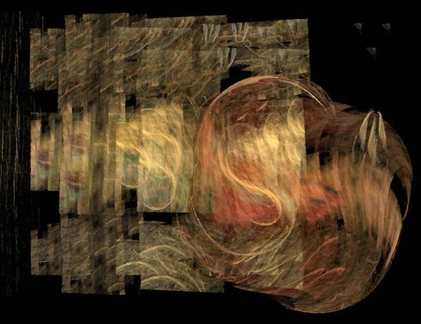 Abstract Poster featuring the digital art The Crooked Road by NirvanaBlues