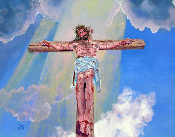 Christ Poster featuring the painting The Crucifixion Day by Stan Hamilton