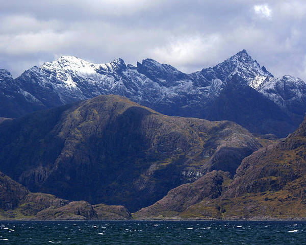 Scotland Poster featuring the photograph The Cuillin Mountains Isle Of Skye by John McKinlay