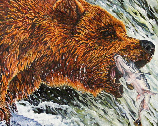 Bear Poster featuring the painting The Cycle by Donald Dean