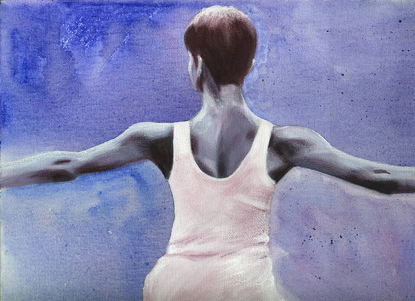 Dancer Poster featuring the painting The Dancer by Fiona Jack