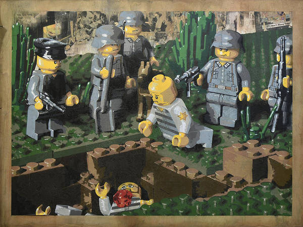 Lego Poster featuring the painting The Death Of 90064 by Josh Bernstein