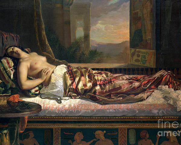 The Death Of Cleopatra Poster By German Von Bohn