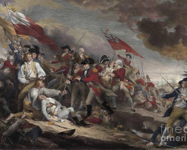 GENERAL WARREN'S DEATH AT BUNKER HILL OIL PAINTING ART REAL CANVAS GICLEEPRINT