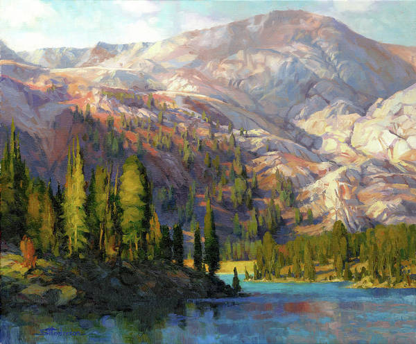 Mountain Poster featuring the painting The Divide by Steve Henderson