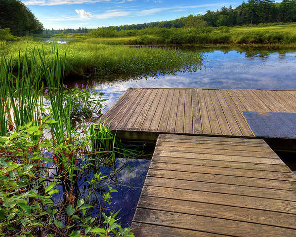 Landscapes Poster featuring the photograph The Dock At Mountainman by David Patterson