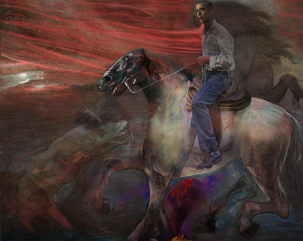 Horse Poster featuring the digital art The Dream 2 by Henriette Tuer lund
