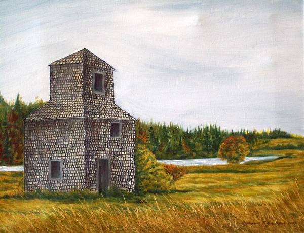 Barn Poster featuring the painting The Drying Barn by Norman F Jackson