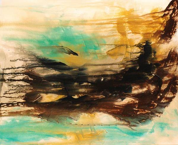 Abstract Poster featuring the painting The East Mist by Ofelia Uz