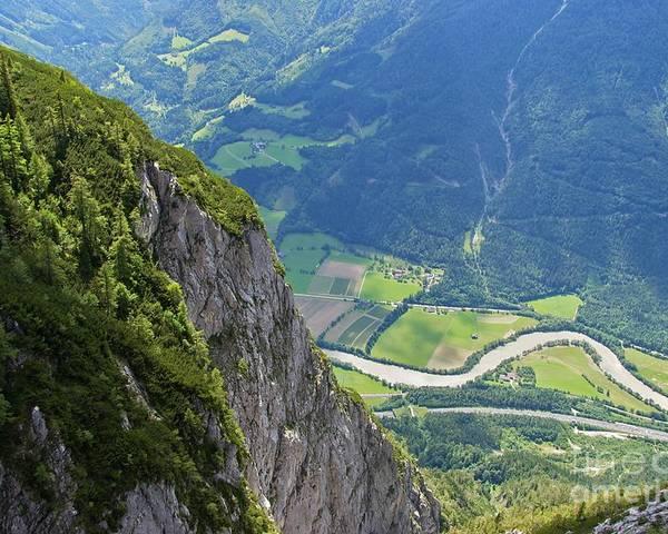 Salzburg Poster featuring the photograph The Edge Of The Precipice by Hideaki Sakurai