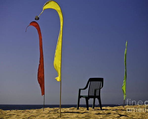 Beach Poster featuring the photograph The Empty Chair by Sheila Smart Fine Art Photography