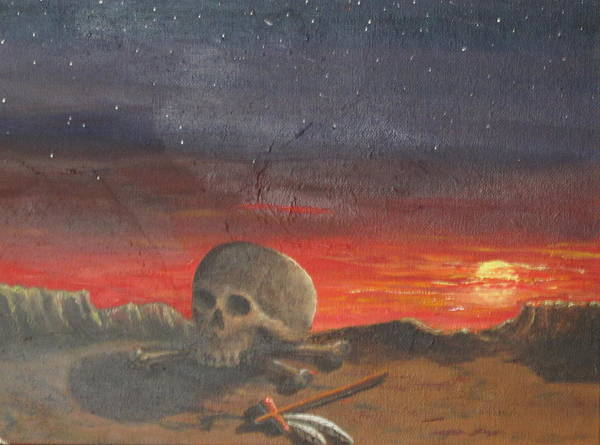 Skull Poster featuring the painting The End by Jack Thomas