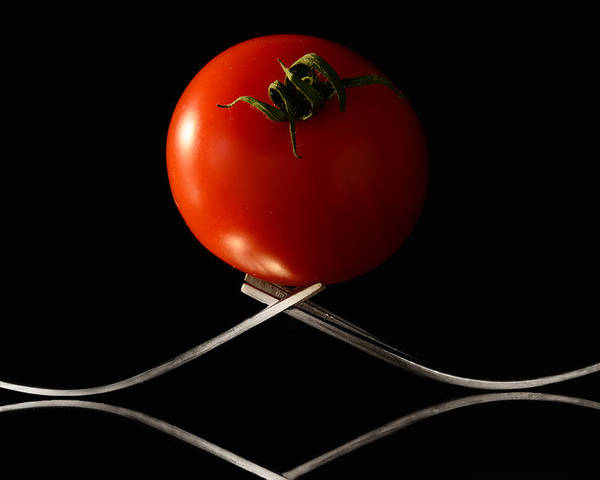 Tomato Poster featuring the photograph The Exposed Tomato by Catalin Tibuleac