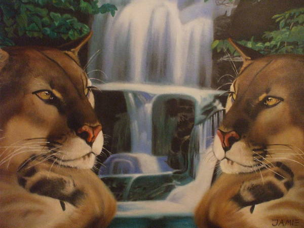 Waterfall Poster featuring the painting The Fall Of A Reflection by Jamie Preston