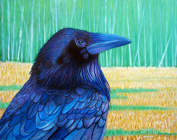 Raven Poster featuring the painting The Field Of Dreams by Brian Commerford