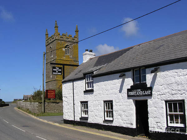Cornwall Poster featuring the photograph The First And Last Inn In England by Terri Waters