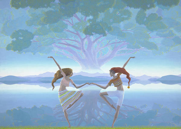 Landscape Poster featuring the painting The First Dance by Jonathan Day