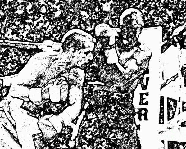 Prize Fighting.boxing Poster featuring the photograph The Follow Through by David Lee Thompson