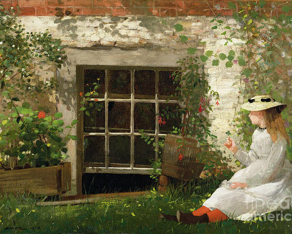 The Poster featuring the painting The Four Leaf Clover by Winslow Homer