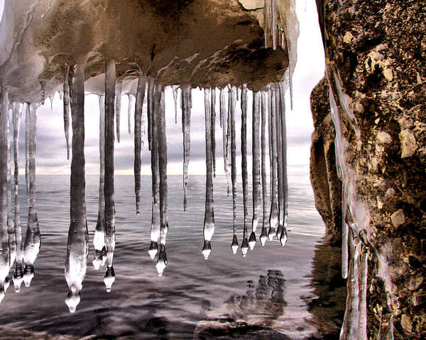 Hdr Poster featuring the photograph The Frozen Veil by Russell Styles