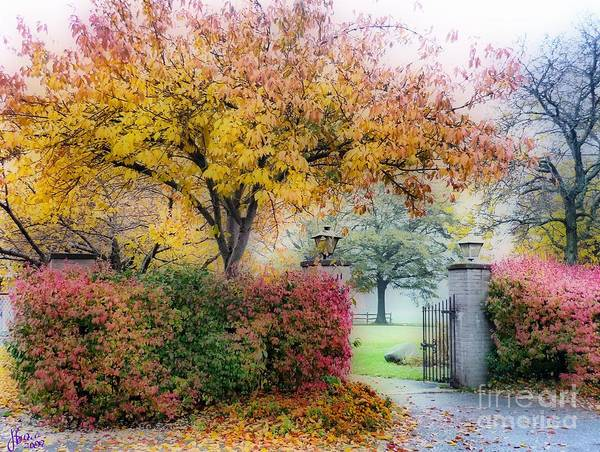 Autumn Poster featuring the photograph The Gate by Jeff Breiman