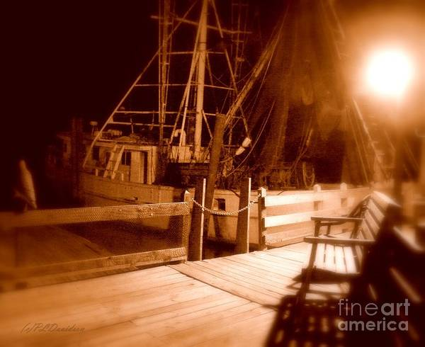 Night Poster featuring the photograph The Ghost Ship by Patricia L Davidson