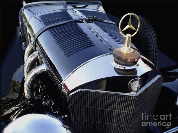 Mercedes Poster featuring the photograph The Gold Star by Curt Johnson
