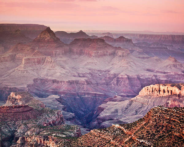 ryankellyphotography@gmail.com Poster featuring the photograph The Grand Canyon South Rim At Dusk by Ryan Kelly
