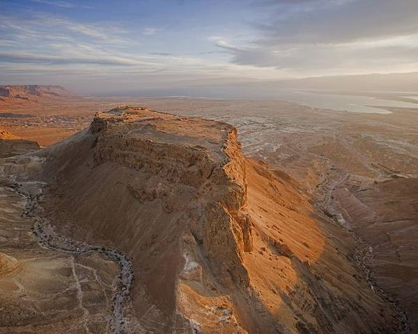 Outdoors Poster featuring the photograph The Great Refuge Of Masada Looms by Michael Melford