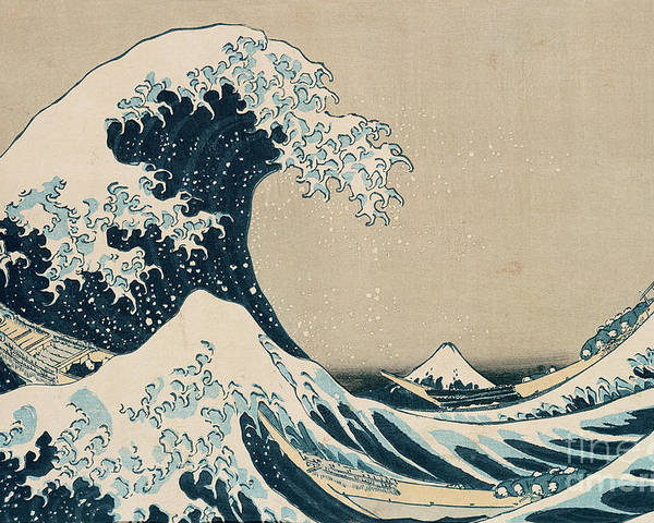 Wave Poster featuring the painting The Great Wave of Kanagawa by Hokusai