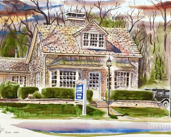 The Greystone Inn In Brigadoon Poster featuring the painting The Greystone Inn In Brigadoon by Kip DeVore