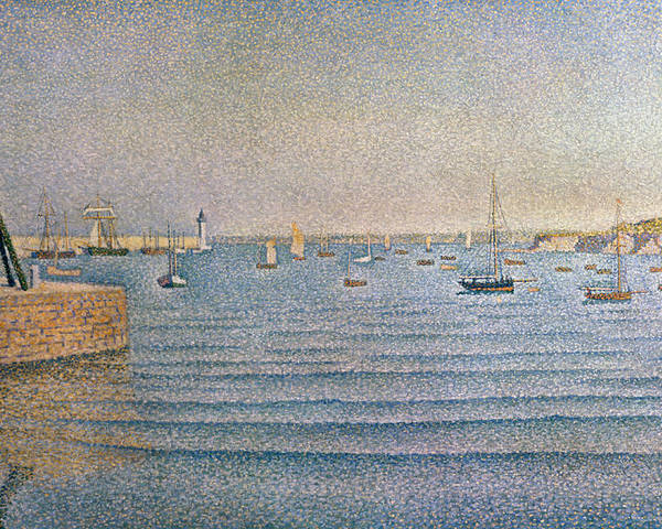 The Harbour At Portrieux Poster featuring the painting The Harbour At Portrieux by Paul Signac