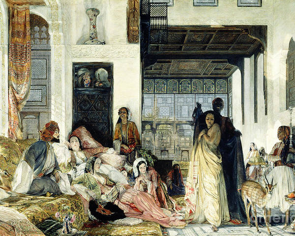 The Poster featuring the painting The Harem by John Frederick Lewis