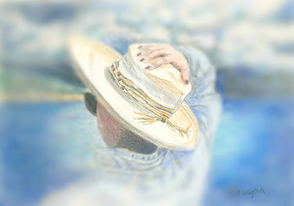 Hat Poster featuring the mixed media The Hat by Arline Wagner