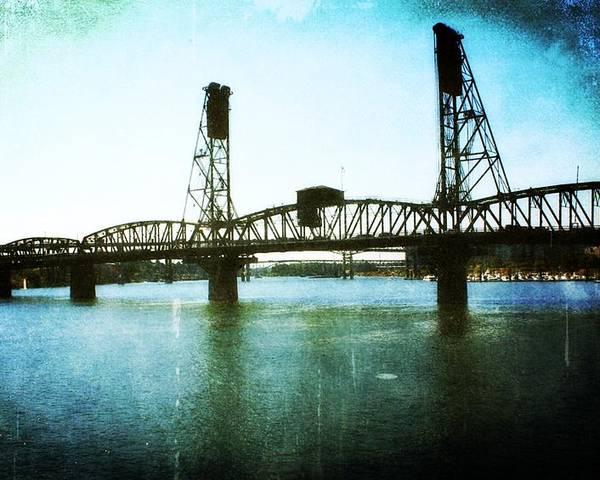 Bridges Poster featuring the photograph The Hawthorne Bridge by Cathie Tyler