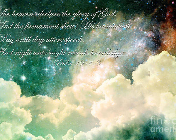 Scripture Poster featuring the photograph The Heavens Declare by Stephanie Frey