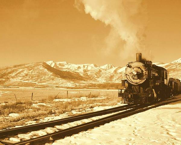 Train Poster featuring the photograph The Heber Creeper by Caroline Clark