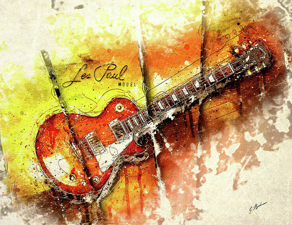 Guitar Poster featuring the digital art The Holy Grail V2 by Gary Bodnar