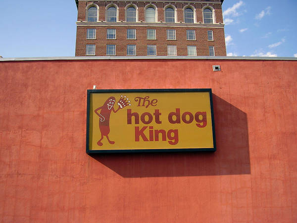 Hot Dog King Poster featuring the photograph The Hot Dog King by Flavia Westerwelle
