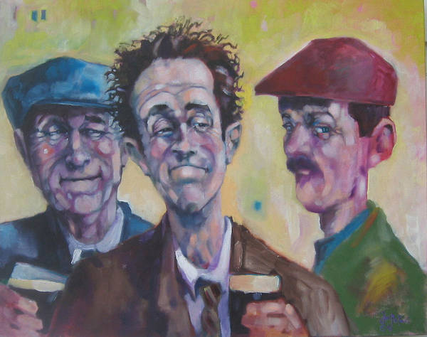 Figure Poster featuring the painting The Inside Joke by Kevin McKrell