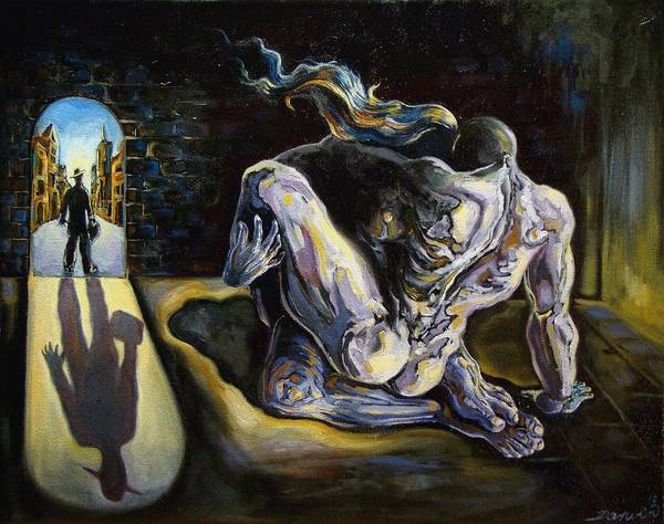 Surrealism Poster featuring the painting The Internal Affair by Darwin Leon