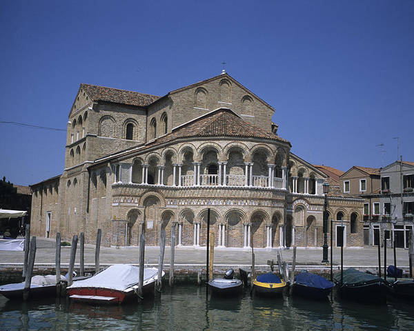 Santa Maria E Donato Poster featuring the photograph The Island Of Murano Is A Quiet Islan by Taylor S. Kennedy