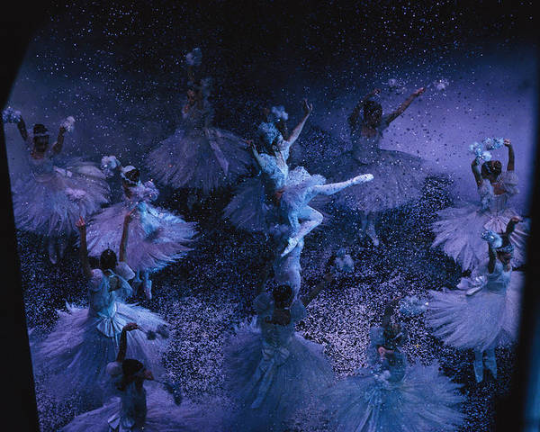 Indoors Poster featuring the photograph The Joffrey Ballet Dances The by Sisse Brimberg