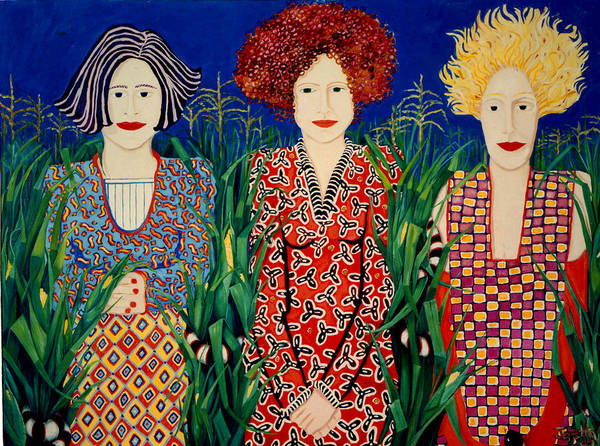 Women Poster featuring the painting The Keepers by Joetta Currie