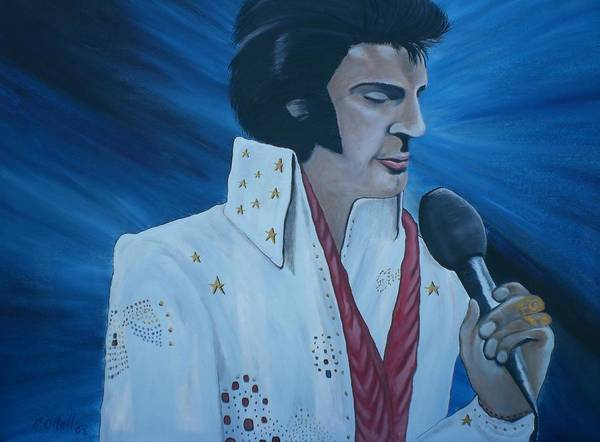 Elvis Poster featuring the painting the King by Colin O neill