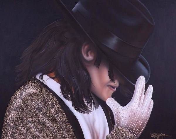 The King Of Pop Poster featuring the painting The King of Pop by Darren Robinson