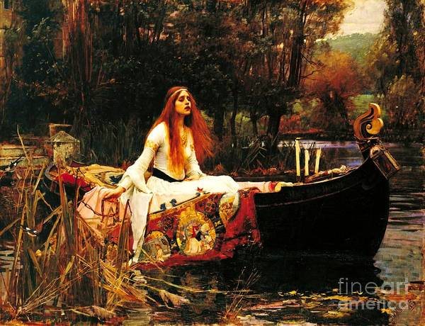 Pd Poster featuring the painting The Lady Of The Shalot by Pg Reproductions
