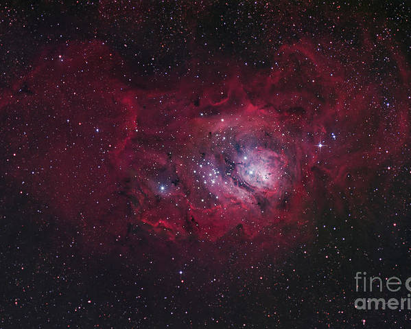 Universe Poster featuring the photograph The Lagoon Nebula by Robert Gendler