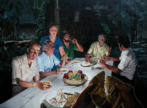 Last Supper Poster featuring the painting The Last Supper by Dave Martsolf