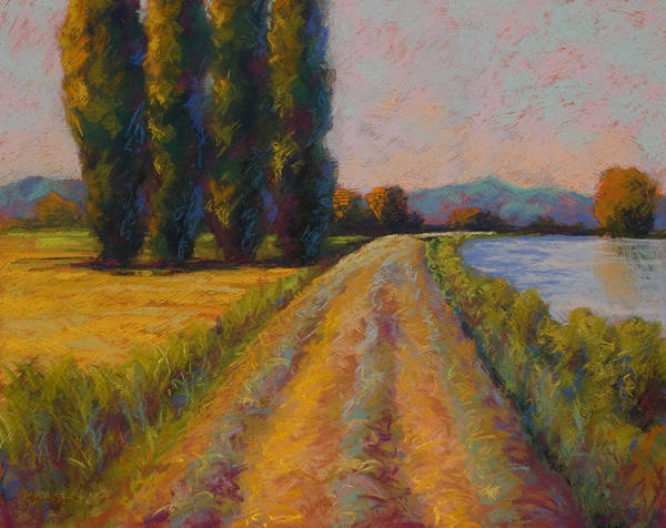 Pastel Poster featuring the painting The Levee by Marion Rose